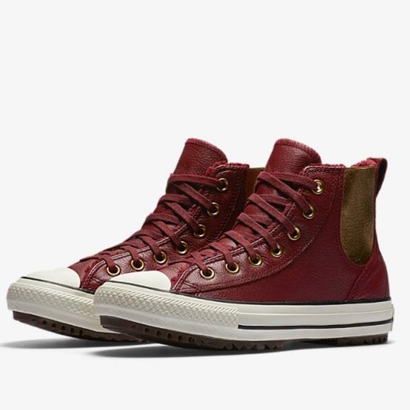 b592fa737f9b Converse Shoes - Converse Chuck Taylor maroon gold high top boots